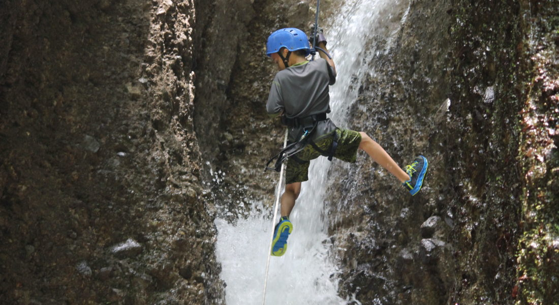 Canyoning. Arenal